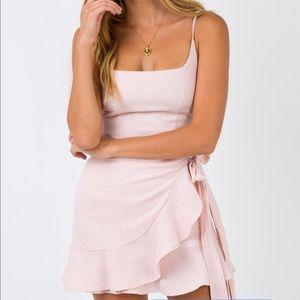 Cottage Hill Mini Dress in Blush